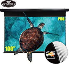 VIVIDSTORM Movie Wrinkle-Free Cinema Office/Home 8K/3D/UHD Motorized Drop Down Projector Screen 100Inch, Home Theater Black housing UST ALR Screen Material VBMSLUST100H