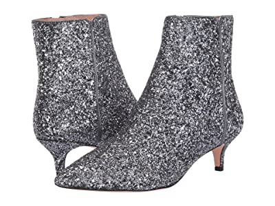 J.Crew Glitter Emma Kitten Heel Boot (Grey Glitter) Women