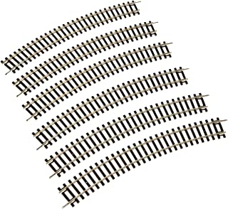 PIKO HO SCALE MODEL TRAINS - CURVED TRACK R2 30 DEGREE (BOX OF 6 PIECES) - 55212 by Piko