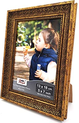 AJANTA ROYAL Synthetic Wood Wall & Table Photo Frame (Bronze_5 X 7 Inch)