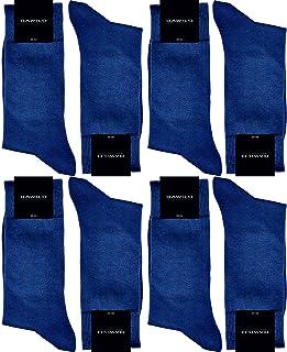 GAWILO 8 paires de chaussettes pour homme - 100 % coton - Sans coutures - Taille confortable.