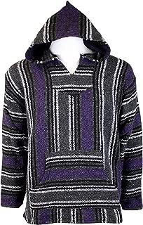 Striped Woven Baja Jacket Coat Hoodie