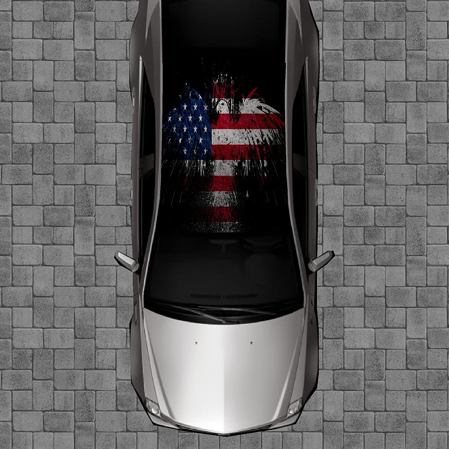 Sign Factory Super sale period limited R51 American Flag Eagle - Decal Wr Wrap Decals Discount is also underway Roof