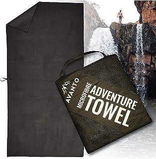 AVANTO Backpacking Towel, Compact Microfiber Travel Towel, Fast Drying, Super Absorbent Swim Towel, Sand Free, for Kayakin...