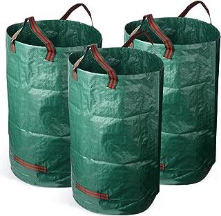 TRIEtree Garden Bag, 120L/32 Gallon Portable Collapsible Reuseable Yard Waste Bag Gardening Trash Lawn Leaf Bag,Pack of 3