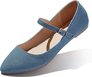 DailyShoes Women's Classic Flats Comfortable Upper Round Flat Slip-On Loafer Sneaker Shoes-Ideal for Casual Occasions