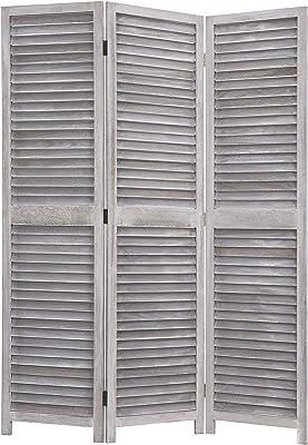 Amazon.com: Benjara UPT-176787 Handcrafted Wooden 4 Panel ...