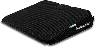 iHealthComfort Potable Wedge Seat Cushion Memory Foam Wellness Orthopedic Cushion