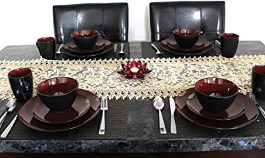 """Exclusive Unique Decorative Table Runner, For use on Dinner, Coffee, Entry, TV Table or Night Stand (Golden, 15"""" x 48"""")"""