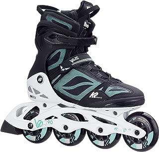 K2 Skate Women's VO2 90 Pro Inline Skate, Black White Mint, 10