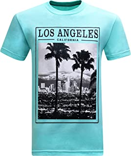 tees geek California Republic Los Angeles Twin Palms Men's T-Shirt