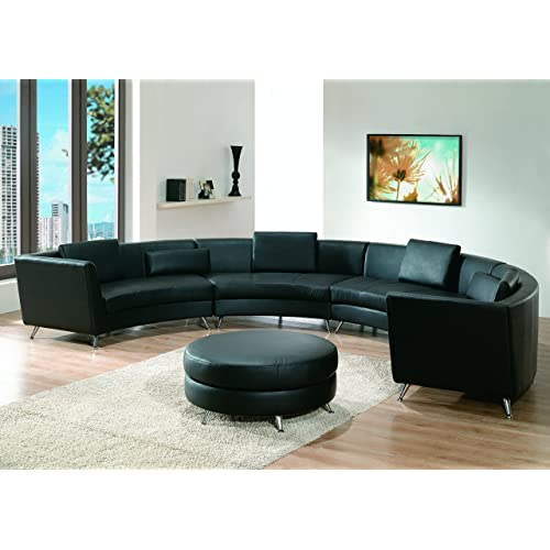 Astonishing Curved Leather Sectional Sofa Amazon Com Gmtry Best Dining Table And Chair Ideas Images Gmtryco