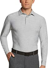 Three Sixty Six Men's Dry Fit Long Sleeve Polo Golf Shirt, Moisture Wicking, UPF 30 and 4 Way Stretch