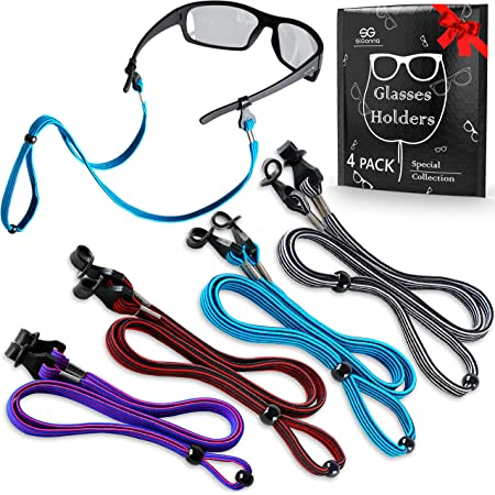 Twdrer 8 Pack Eyeglasses String Holder Chain,Leather Strap Lanyard Cord Necklace Eyewear Retainer for Men and Women Boys Girls