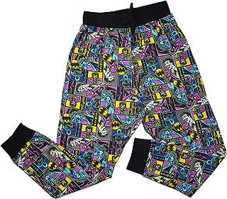 Mens Official Batman & Joker Loungepants | Mens Loungewear All Over Print Pyjama Bottoms, Size Small - X-Large