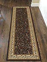 Radici Como Area Rug, 2'2 x 7'7 Runner, brown