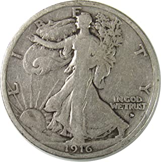 1916 D Walking Liberty Half Dollar 50¢ Fine