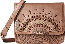 Bella Luna Multi-Compartment Crossbody Flap Bag