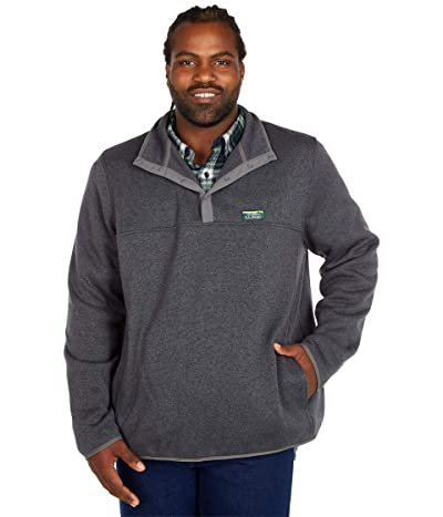 L.L.Bean Sweater Fleece Pullover Tall (Charcoal Gray Heather) Men