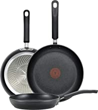 T-fal E938S3 Professional Total Nonstick Thermo-Spot Heat Indicator Fry Pan Cookware Set, 3-Piece, 8-Inch 10.5-Inch and 12...