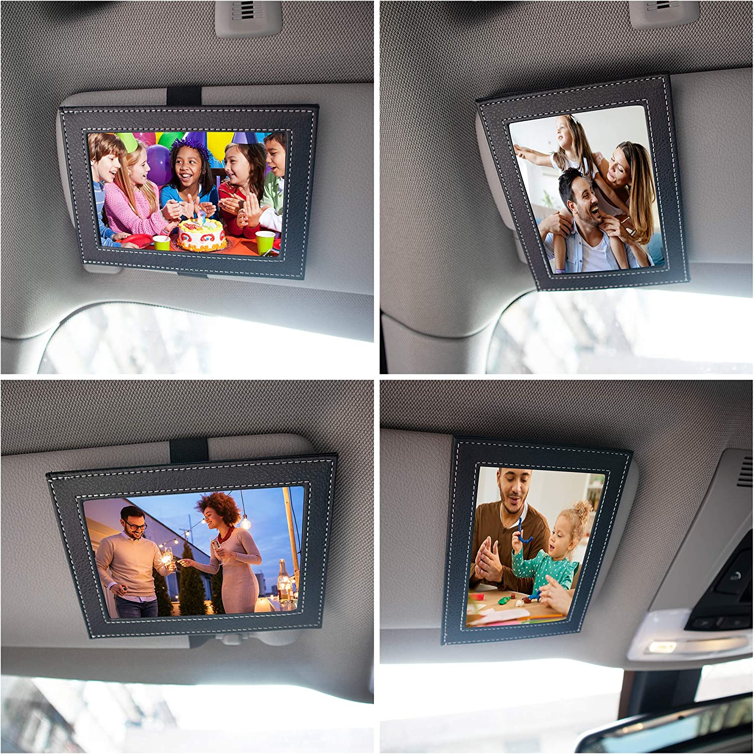 Temlum Artificial Leather Visor Photo/Picture Frames Fits Standa