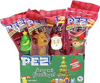 PEZ Christmas Candy Dispensers Individually Wrapped PEZ Candy and Dispensers with Tru Inertia Kazoo (12 Pack)