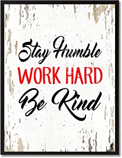 SpotColorArt Stay Humble Work Hard Be Kind Framed Canvas Art, 7