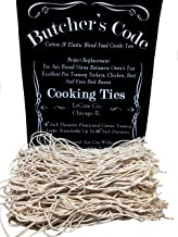 Rotisserie Elastic and Cotton Blend - Stretchy Twine - Food Grade - Heat Safe - Cooking Ties - Poultry Loops - 50 Pack