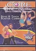 Core Rhythms Dance Excercise Program Buns Blaster & Thigh Combo Jumpin Jive / Swing Sensation Latin Dance Made Easy DVD