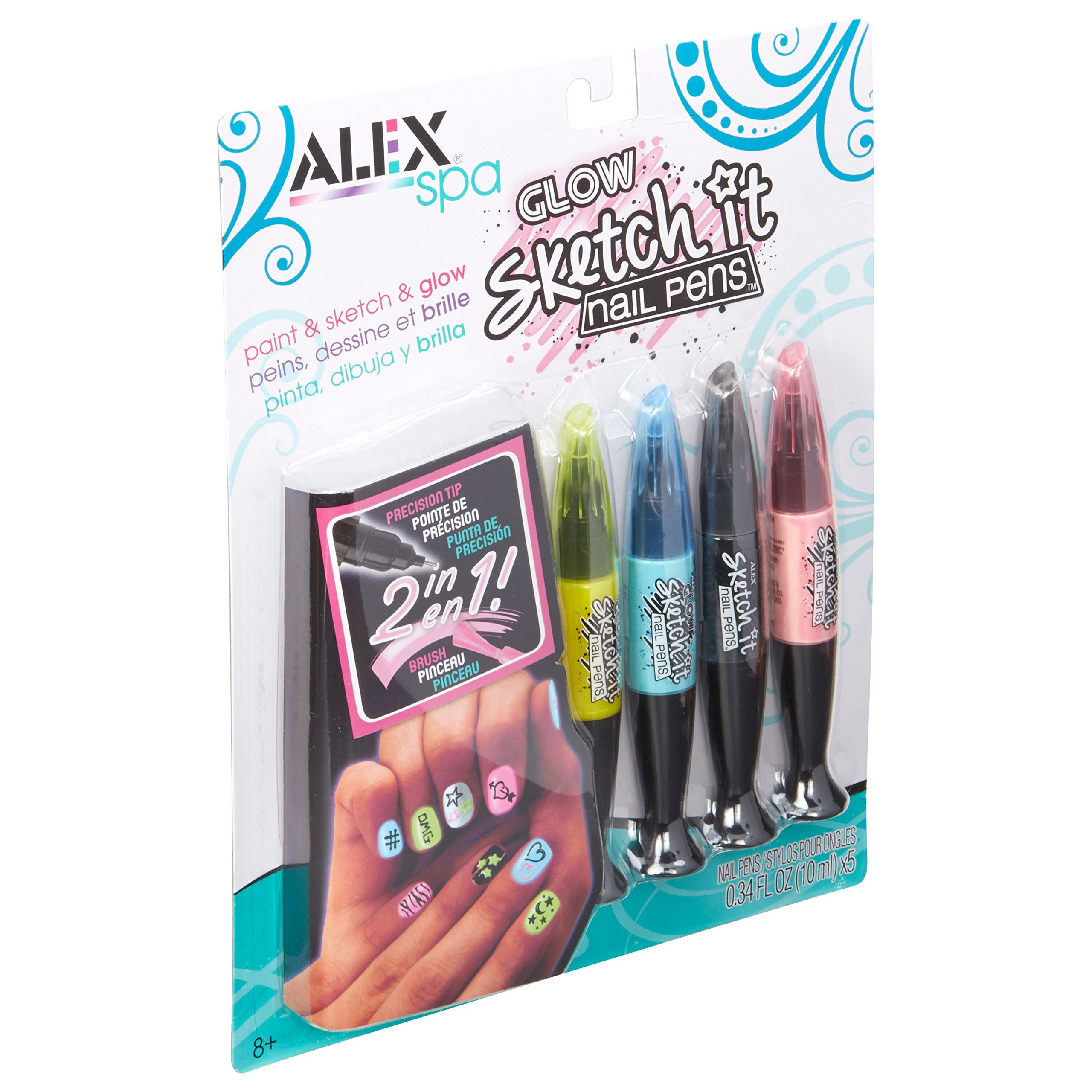 ALEX Glow Sketch Nail Pens