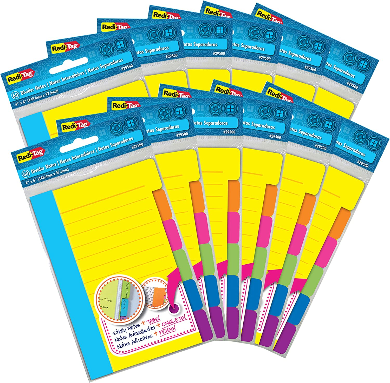 Max 64% OFF Redi-Tag Divider Max 48% OFF Sticky Notes Tabbed Self-Stick Note Pad Lined