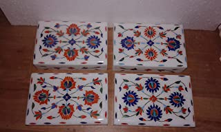 "Ring box Marble inlay jewelry boxes Decorative by MARBLE INLAY Box 6"" X 4"" Inch"