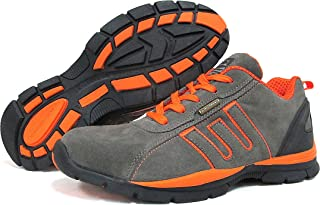 Groundwork Footwear Safety Boots, Mens Work Boot, Safety Trainer, Steel Toe Cap, Safety Jogger, Construction Boot, Grey & Orange