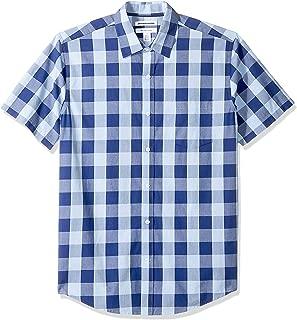 Men's Regular-Fit Short-Sleeve Casual Poplin Shirt