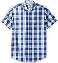 Amazon Essentials Men's Regular-fit Short-Sleeve Poplin Shirt