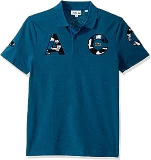 Lacoste Mens Sport Short Sleeve Lacoste Camo Letters Cotton Polo Shirt