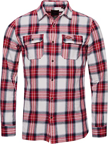 Superdry Hombre Camisa clásica de leñador