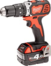 Milwaukee 4933443520 M18 Bpd-402C Taladro de percusión 18 V, 4.0 Ah Litio, 2 Vel. 60 Nm