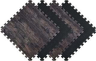 Norsk Foam Mats Reversible Faux Wood Interlocking Tiles