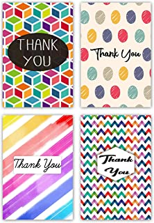 Greetingles Pack of 24 Geometric Design Thank-You Cards and Envelopes.