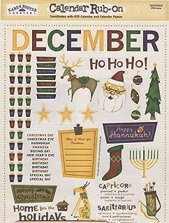 December Calendar Rub-ons for Scrapbooking (04037)