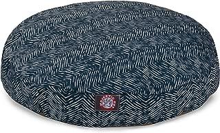 Majestic Pet Outdoor Navy Navajo Round Pet Bed