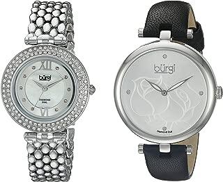 Burgi Women's BUR152SS Silver Quartz Watch Set Including BUR151SS And BUR126SS
