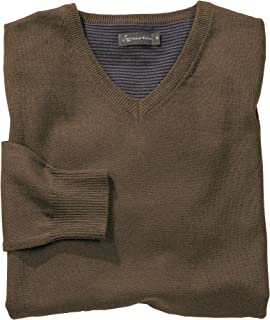 Samuel Windsor Men's Classic Wool Cotton Mix V Neck Jumper