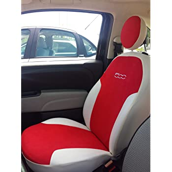 Negro Fundas de Asiento a Medida para Fiat 500 Blanco o Colores a Elegir Fiat 312 Desde el 07 de ecopiel Estilo Italia Col