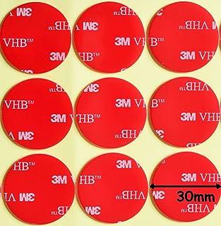 Almohadillas redondas de acrílico 3M VHB de doble cara color negro,diámetro de 30 mm x 1mm de grosor,cinta VHB resistente a la intemperie, Modelo:-5952