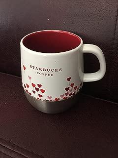 Starbucks Coffee 2007 Urban Thermal Mug Red Pink Heart Balloons Stainless Base, 14 oz