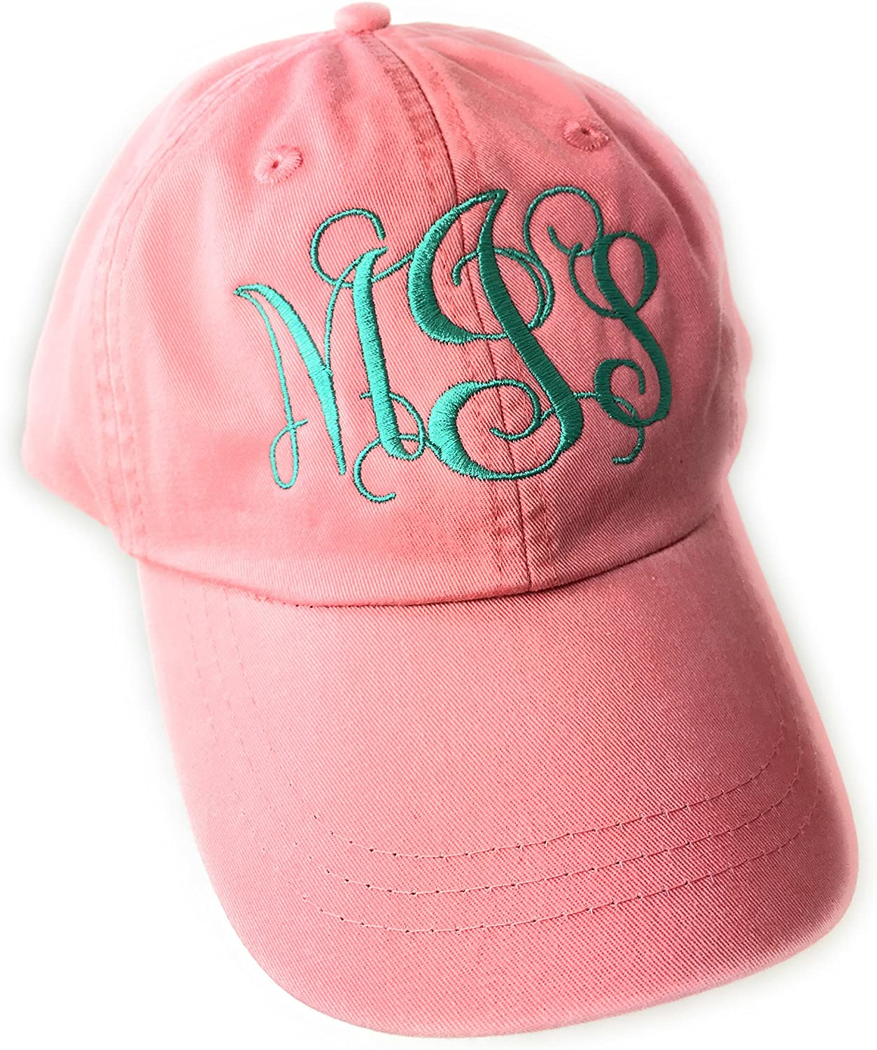 Mary's Monograms Monogrammed/Personalized Woman's Coral Baseball Cap