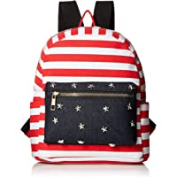 Twig & Arrow Women's Stripes & Stars Mini Dome Backpack (Denim)