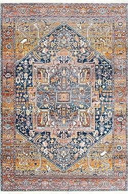 nuLOOM Ethel Medallion Fringe Area Rug, 8' x 10', Rust